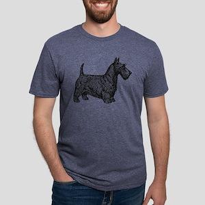 Scottish Terrier Mens Tri-blend T-Shirts