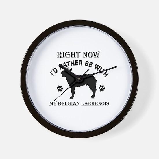Belgian Laekenois Dog Breed Designs Wall Clock