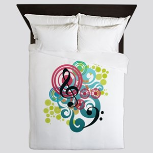Music Swirl Queen Duvet