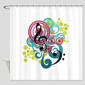 Music Swirl Shower Curtain