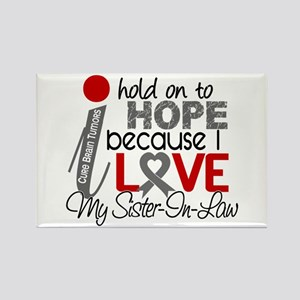 I Hold On To Hope Brain Tumor Rectangle Magnet