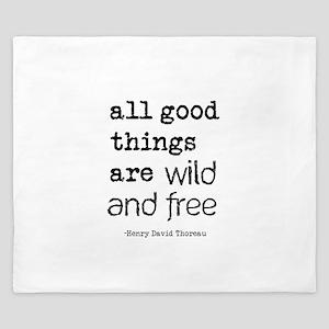 Wild and Free King Duvet