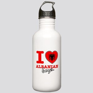 I love Albanian boys Stainless Water Bottle 1.0L