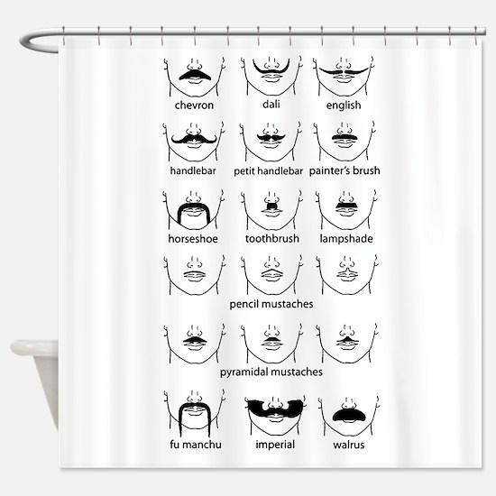 Cute Facial Shower Curtain