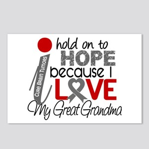 I Hold On To Hope Brain Tumor Postcards (Package o