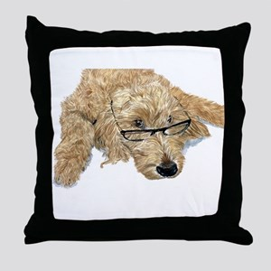 Goldendoodle Stella Throw Pillow