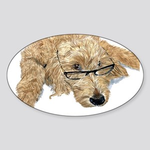 Goldendoodle Stella Sticker (Oval)