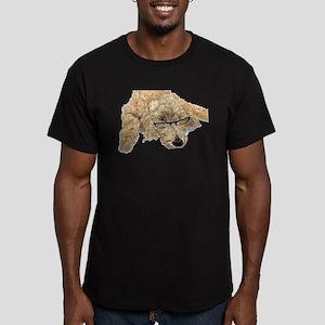 Goldendoodle Stella Men's Fitted T-Shirt (dark)