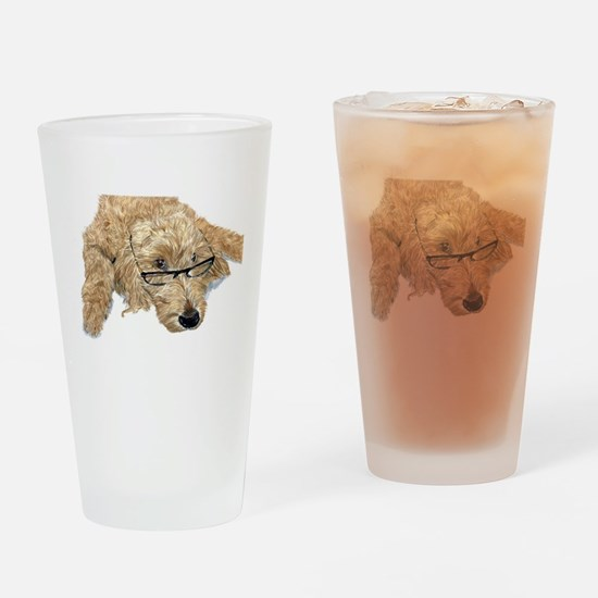 Goldendoodle Stella Drinking Glass