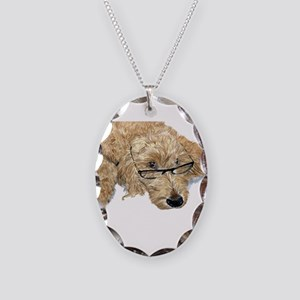 Goldendoodle Stella Necklace Oval Charm