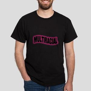 Multiracial Pride Black T-Shirt
