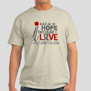 I Hold On To Hope Brain Tumor Light T-Shirt