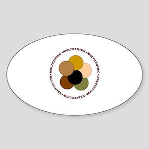 Multicentric/ Multiracial Pride Oval Sticker