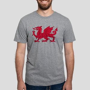 Welsh Dragon Mens Tri-blend T-Shirt