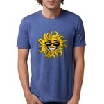 Smiley Face Sun Mens Tri-blend T-Shirt