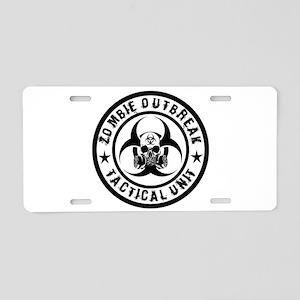 Zombie Outbreak Tactical unit Aluminum License Pla