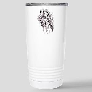 Afghan Hound Portait Stainless Steel Travel Mug