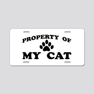 Property of My Cat Aluminum License Plate
