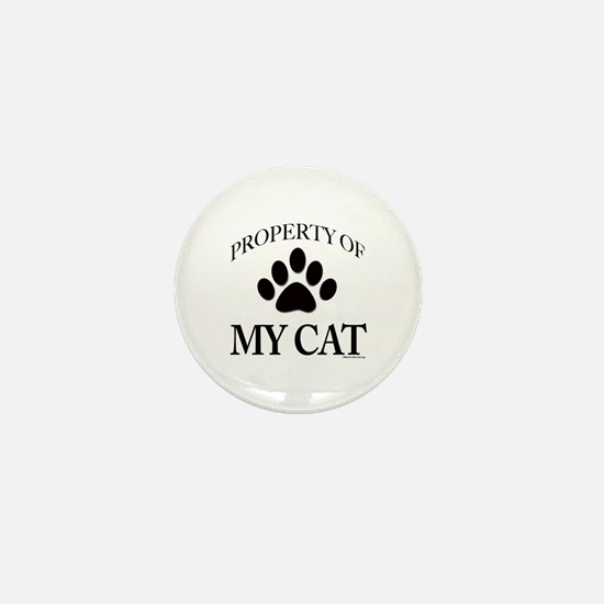 Property of My Cat Mini Button