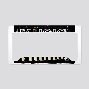 think music License Plate Holder