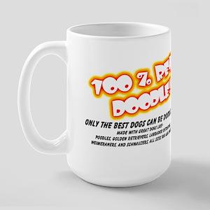 100% Real Doodle! Large Mug