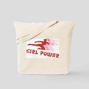 Martial Arts Girl Power Tote Bag