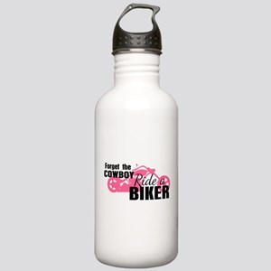 Forget the Cowboy, Ride a Biker Stainless Water Bo