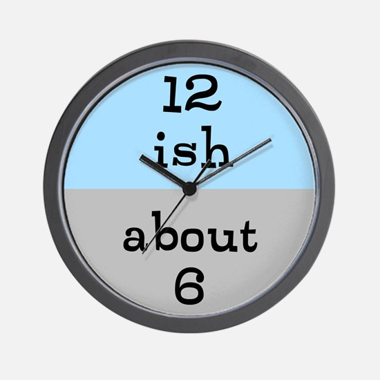 Approximate Clock. Wall Clock