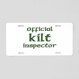 Official Kilt Inspector Aluminum License Plate