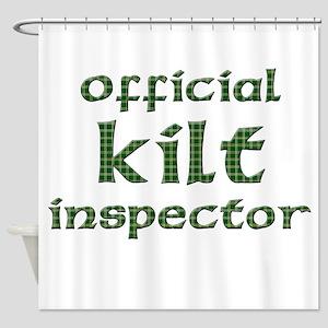 Official Kilt Inspector Shower Curtain
