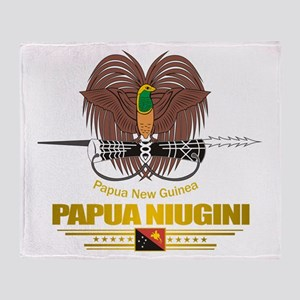 """""""Papua New Guinea COA"""" Throw Blanket"""