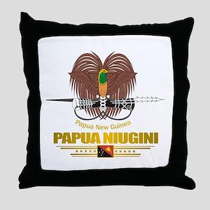 """""""Papua New Guinea COA"""" Throw Pillow"""