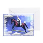 Horse Jumping Blank Cards (Pk of 10)