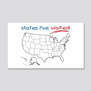States I've Been To 22x14 Wall Peel