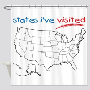 States I've Been To Shower Curtain