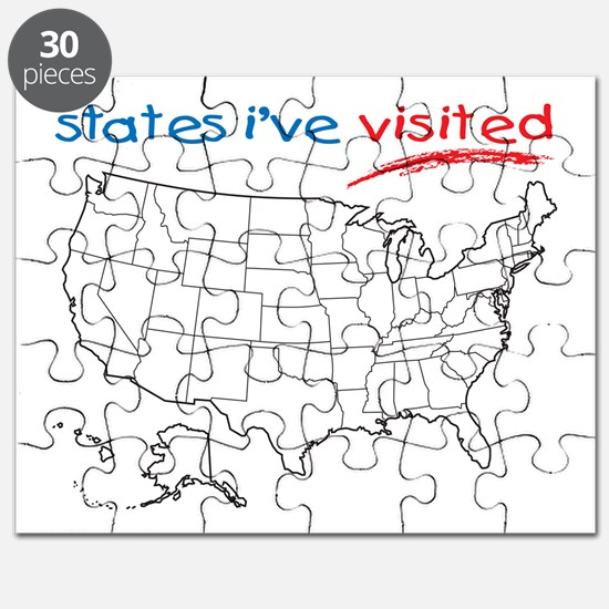 States I've Been To Puzzle