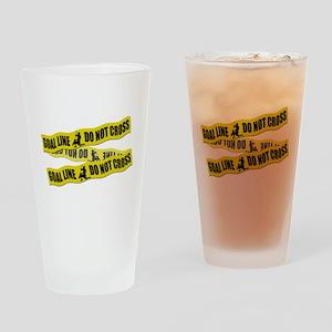 Lacrosse Crime Tape Drinking Glass