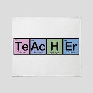 Teacher Elements Throw Blanket