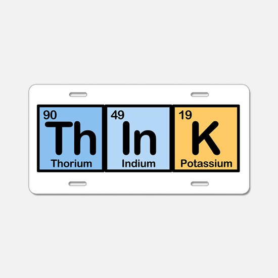 Think Elements Aluminum License Plate