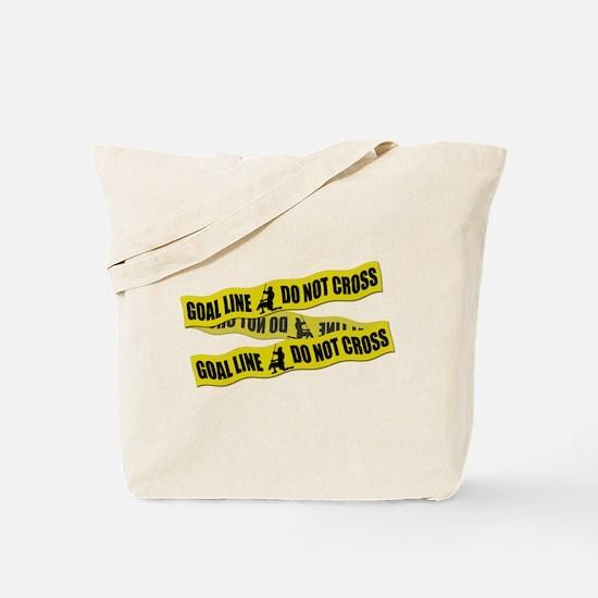 Lacrosse Crime Tape Tote Bag
