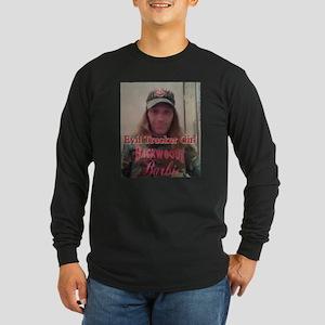 Evil Trucker Girl Long Sleeve Dark T-Shirt
