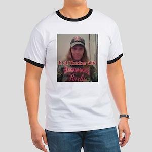 Evil Trucker Girl Ringer T