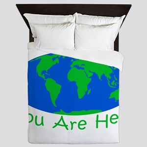 Earth Day You Are Here Queen Duvet