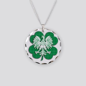Irish Polish Heritage Necklace Circle Charm