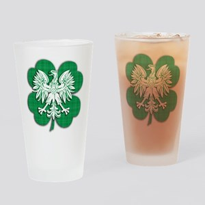 Irish Polish Heritage Drinking Glass