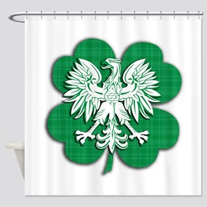 Irish Polish Heritage Shower Curtain