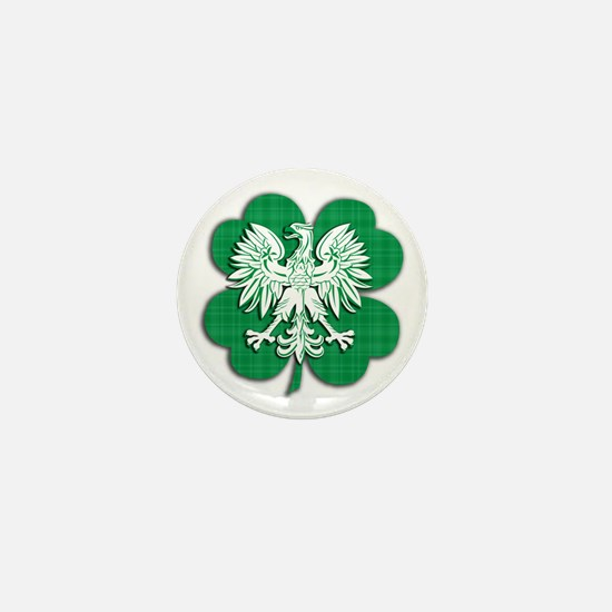 Irish Polish Heritage Mini Button