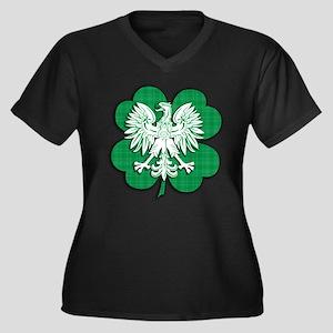 Irish Polish Heritage Women's Plus Size V-Neck Dar