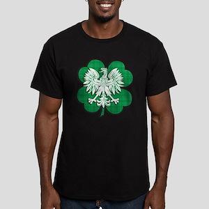 Irish Polish Heritage Men's Fitted T-Shirt (dark)