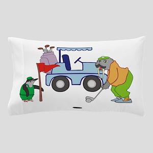 Playing Golf Pillow Case